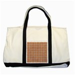 WOVEN1 WHITE MARBLE & RUSTED METAL Two Tone Tote Bag Front