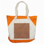 WOVEN1 WHITE MARBLE & RUSTED METAL Accent Tote Bag Front