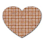 WOVEN1 WHITE MARBLE & RUSTED METAL Heart Mousepads Front