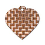 WOVEN1 WHITE MARBLE & RUSTED METAL Dog Tag Heart (Two Sides) Front