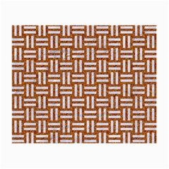 Woven1 White Marble & Rusted Metal Small Glasses Cloth (2 Side)