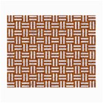 WOVEN1 WHITE MARBLE & RUSTED METAL Small Glasses Cloth (2-Side) Front