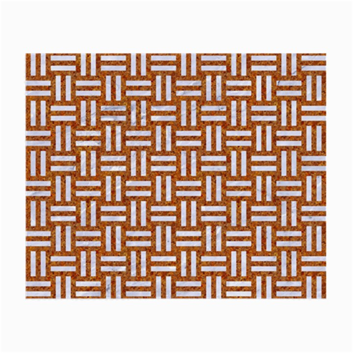 WOVEN1 WHITE MARBLE & RUSTED METAL Small Glasses Cloth (2-Side)