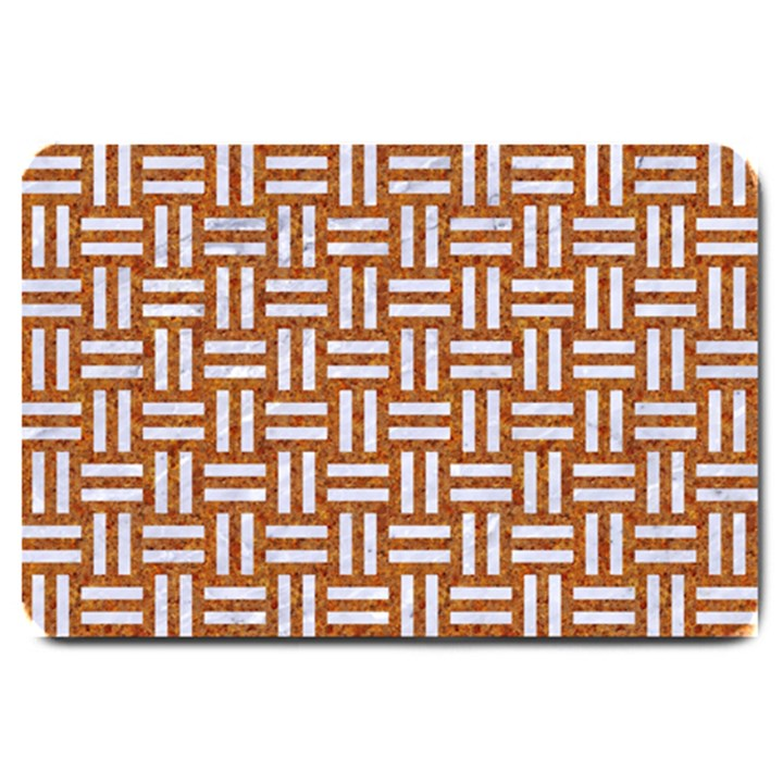 WOVEN1 WHITE MARBLE & RUSTED METAL Large Doormat
