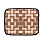 WOVEN1 WHITE MARBLE & RUSTED METAL Netbook Case (Small)  Front