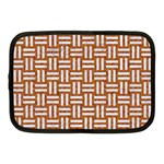 WOVEN1 WHITE MARBLE & RUSTED METAL Netbook Case (Medium)  Front