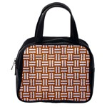 WOVEN1 WHITE MARBLE & RUSTED METAL Classic Handbags (One Side) Front