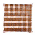 WOVEN1 WHITE MARBLE & RUSTED METAL Standard Cushion Case (One Side) Front