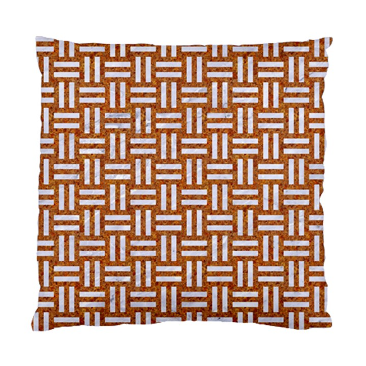 WOVEN1 WHITE MARBLE & RUSTED METAL Standard Cushion Case (Two Sides)