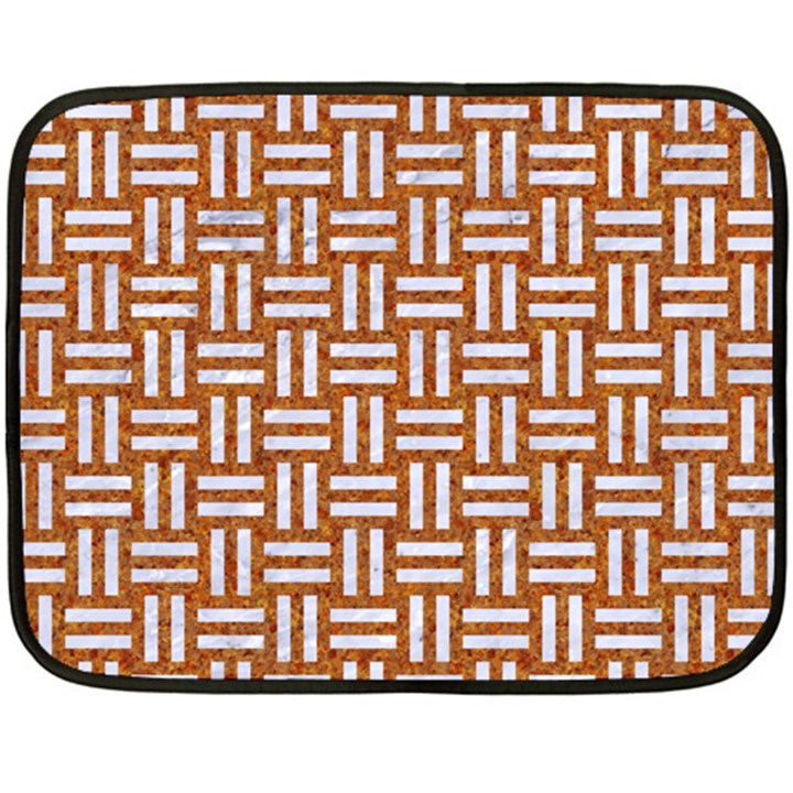 WOVEN1 WHITE MARBLE & RUSTED METAL Fleece Blanket (Mini)