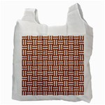 WOVEN1 WHITE MARBLE & RUSTED METAL Recycle Bag (Two Side)  Back