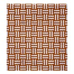 WOVEN1 WHITE MARBLE & RUSTED METAL Shower Curtain 66  x 72  (Large)  58.75 x64.8 Curtain