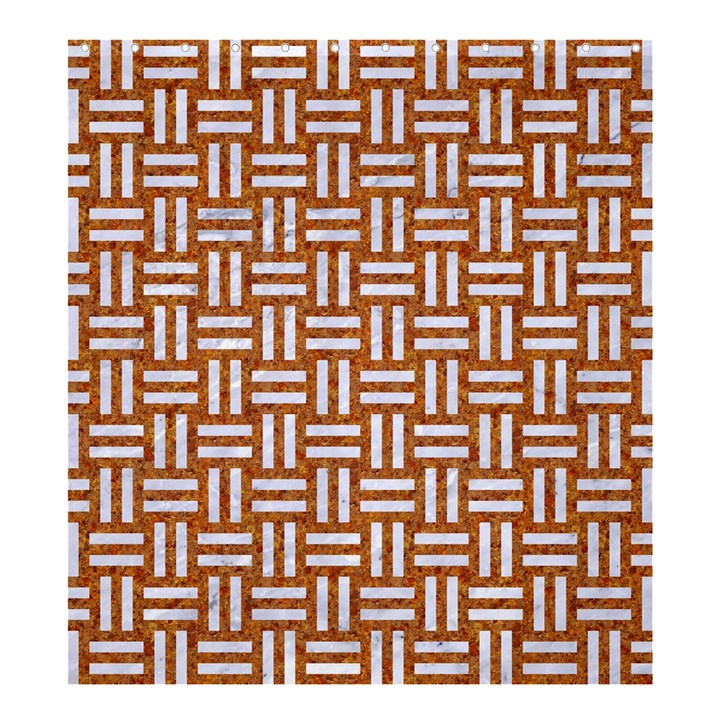WOVEN1 WHITE MARBLE & RUSTED METAL Shower Curtain 66  x 72  (Large)
