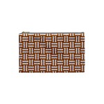WOVEN1 WHITE MARBLE & RUSTED METAL Cosmetic Bag (Small)  Front