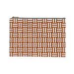 WOVEN1 WHITE MARBLE & RUSTED METAL Cosmetic Bag (Large)  Front