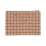 WOVEN1 WHITE MARBLE & RUSTED METAL Cosmetic Bag (Large)  Back