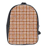 WOVEN1 WHITE MARBLE & RUSTED METAL School Bag (Large) Front