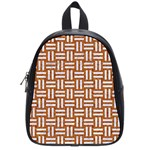 WOVEN1 WHITE MARBLE & RUSTED METAL School Bag (Small) Front