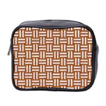 WOVEN1 WHITE MARBLE & RUSTED METAL Mini Toiletries Bag 2-Side Front