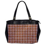 WOVEN1 WHITE MARBLE & RUSTED METAL Office Handbags Front