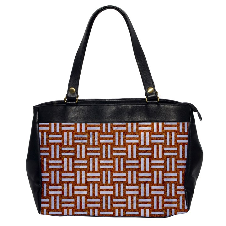 WOVEN1 WHITE MARBLE & RUSTED METAL Office Handbags