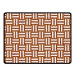WOVEN1 WHITE MARBLE & RUSTED METAL Fleece Blanket (Small) 50 x40 Blanket Front