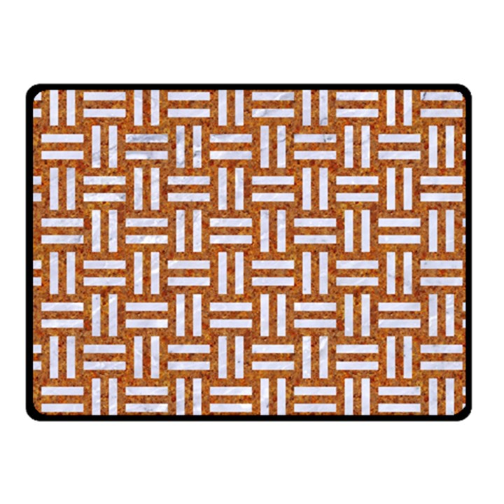 WOVEN1 WHITE MARBLE & RUSTED METAL Fleece Blanket (Small)
