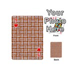 WOVEN1 WHITE MARBLE & RUSTED METAL Playing Cards 54 (Mini)  Front - Heart7