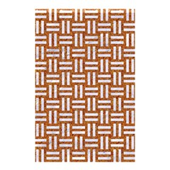 Woven1 White Marble & Rusted Metal Shower Curtain 48  X 72  (small)