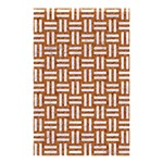 WOVEN1 WHITE MARBLE & RUSTED METAL Shower Curtain 48  x 72  (Small)  42.18 x64.8 Curtain