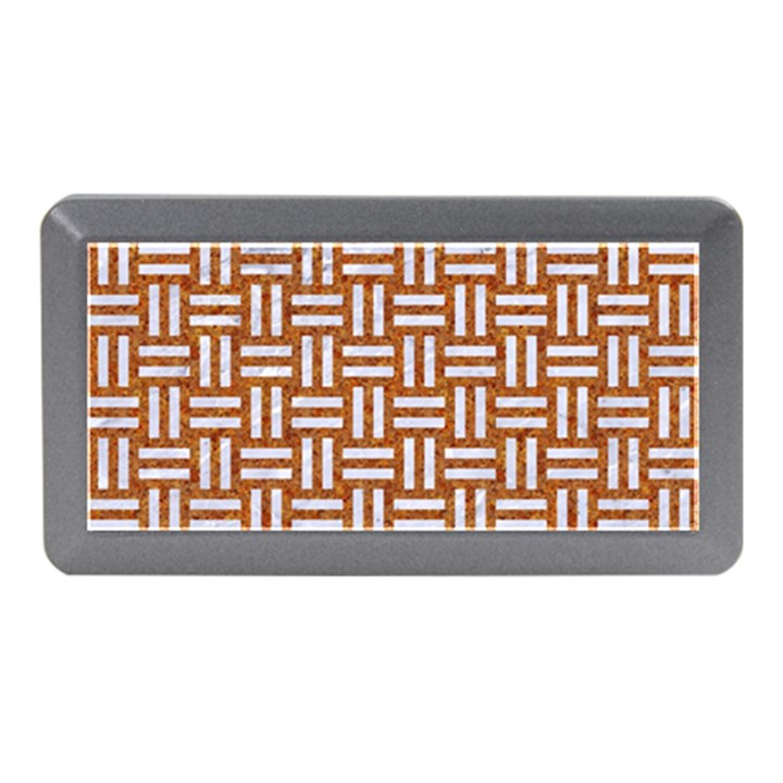 WOVEN1 WHITE MARBLE & RUSTED METAL Memory Card Reader (Mini)