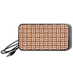 WOVEN1 WHITE MARBLE & RUSTED METAL Portable Speaker Front