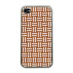 WOVEN1 WHITE MARBLE & RUSTED METAL Apple iPhone 4 Case (Clear) Front