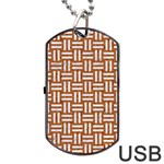 WOVEN1 WHITE MARBLE & RUSTED METAL Dog Tag USB Flash (Two Sides) Back