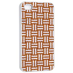 Woven1 White Marble & Rusted Metal Apple Iphone 4/4s Seamless Case (white)