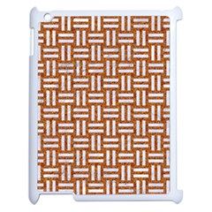 Woven1 White Marble & Rusted Metal Apple Ipad 2 Case (white)