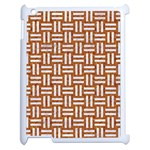 WOVEN1 WHITE MARBLE & RUSTED METAL Apple iPad 2 Case (White) Front