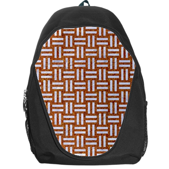 WOVEN1 WHITE MARBLE & RUSTED METAL Backpack Bag