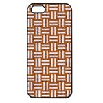 WOVEN1 WHITE MARBLE & RUSTED METAL Apple iPhone 5 Seamless Case (Black) Front