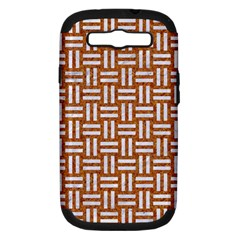 Woven1 White Marble & Rusted Metal Samsung Galaxy S Iii Hardshell Case (pc+silicone)