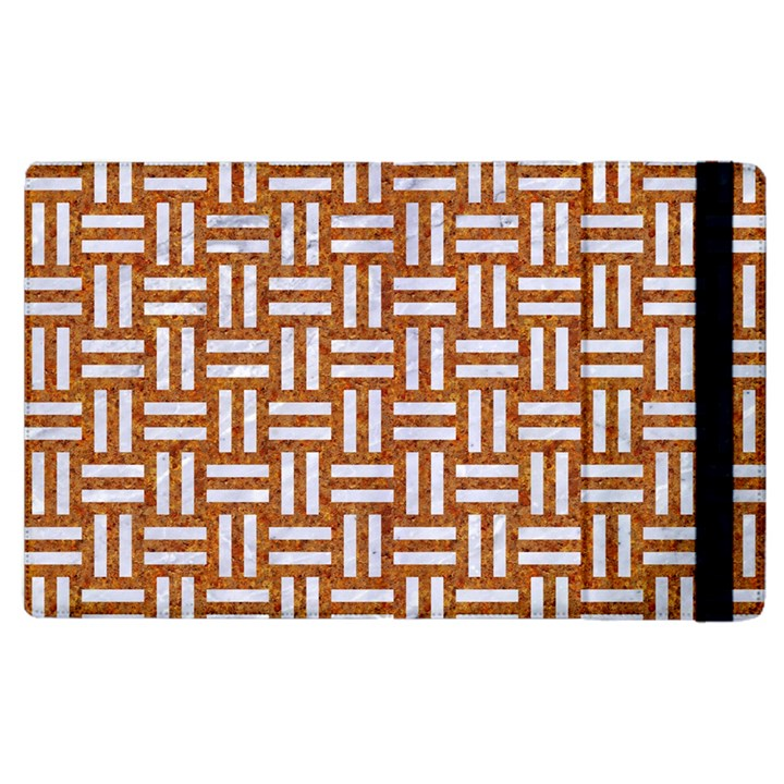WOVEN1 WHITE MARBLE & RUSTED METAL Apple iPad 3/4 Flip Case