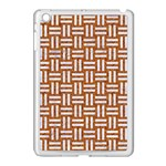 WOVEN1 WHITE MARBLE & RUSTED METAL Apple iPad Mini Case (White) Front