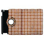 WOVEN1 WHITE MARBLE & RUSTED METAL Apple iPad 2 Flip 360 Case Front