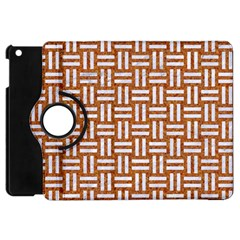 Woven1 White Marble & Rusted Metal Apple Ipad Mini Flip 360 Case