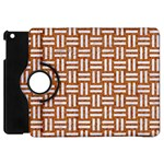WOVEN1 WHITE MARBLE & RUSTED METAL Apple iPad Mini Flip 360 Case Front