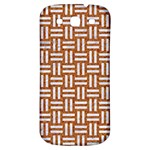 WOVEN1 WHITE MARBLE & RUSTED METAL Samsung Galaxy S3 S III Classic Hardshell Back Case Front