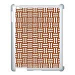WOVEN1 WHITE MARBLE & RUSTED METAL Apple iPad 3/4 Case (White) Front