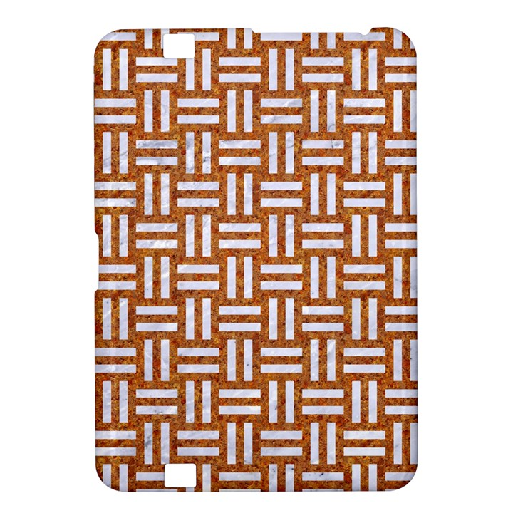 WOVEN1 WHITE MARBLE & RUSTED METAL Kindle Fire HD 8.9