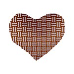 WOVEN1 WHITE MARBLE & RUSTED METAL Standard 16  Premium Heart Shape Cushions Back