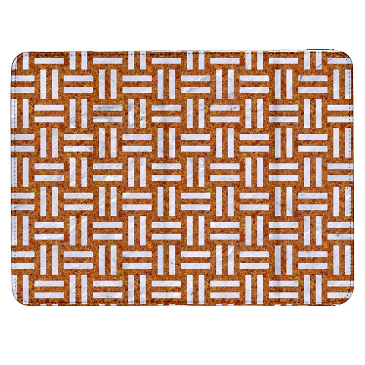 WOVEN1 WHITE MARBLE & RUSTED METAL Samsung Galaxy Tab 7  P1000 Flip Case